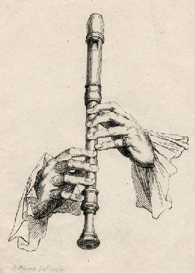 Recorder Player's Hands