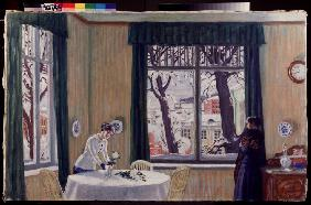 In the room. Winter