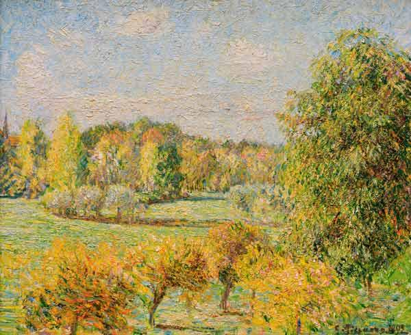 C.Pissarro / Autumn Mood with Nut Tree..
