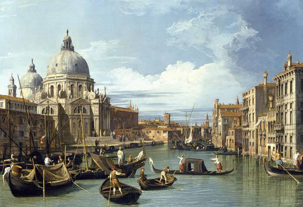 The Entrance to the Grand Canal, Venice - Canaletto