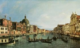 Grand Canal: looking South-West from the Chiesa degli Scalzi to the Fondamenta della Crose