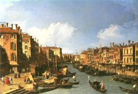Grand Canal: looking South-West from the Rialto Bridge to the Palazzo Fosari