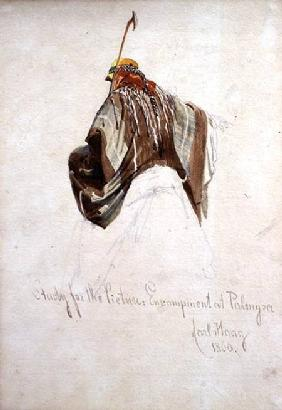 Study for 'Encampment at Palmyra', top of figure on camel's back