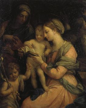 Madonna Teaching the Infant Christ Reading