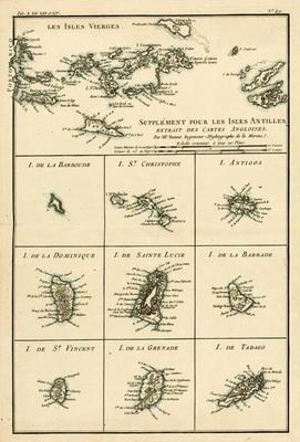 The Virgin Islands, from 'Atlas de Toutes les Parties Connues du Globe Terrestre' by Guillaume Rayna