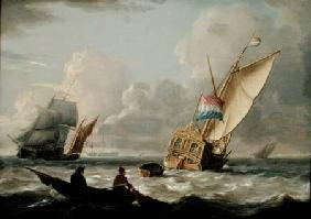 A Dutch Admiralty Yacht and other Shipping