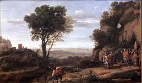 Landscape with David at the Cave of Abdullam