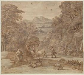 Landscape with Mercury and Apollo as a Shepherd