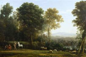 Landscape with Erminia in Discourse with the Old Man and his Sons