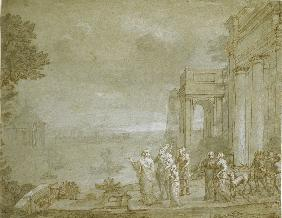 View of Carthage with Dido and Aeneas