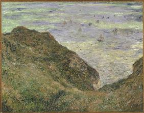 On the cliff at Pourville