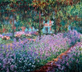 Bloeiende Irissen in Monets tuin Claude Monet