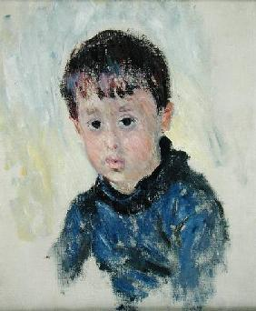 Michel Monet (1878-1966) in a Blue Jumper