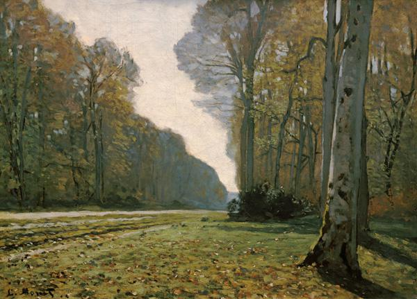 Pave de Chailly in het Fontainebleau bos Claude Monet