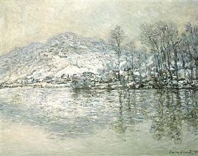 The Seine at Port Villez in Winter