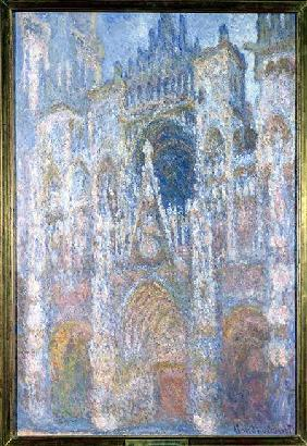 Rouen Cathedral, Blue Harmony, Morning Sunlight