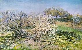 C.Monet, Spring, flowering apple trees.