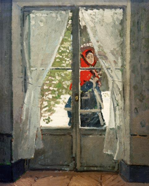 The Red Cape (Madame Monet)