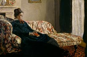 Meditation. Madame Monet au canape