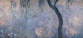 Waterlilies: Two Weeping Willows, right section