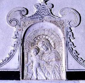 Bas-relief of a Madonna and Child