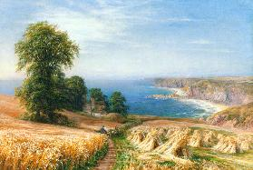 Harvest time by the Sea - Edmund George Warren