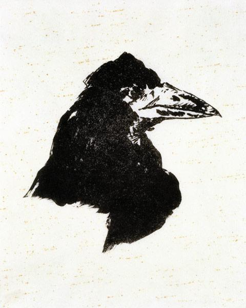 "Le Corbeau (The Raven) Illustration for the poem ""The Raven"" by Edgar Allan Poe"