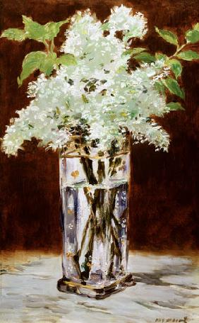 Edouard Manet - White Lilac in a Crystal Vase