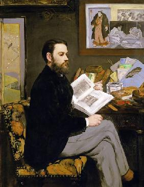 Edouard Manet - Portrait of Emile Zola (1840-1902)