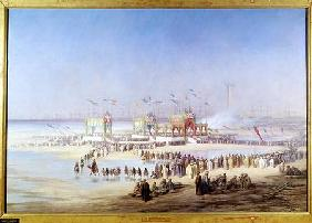 The Inauguration of the Suez Canal by the Empress Eugenie (1826-1920) 17th November 1869