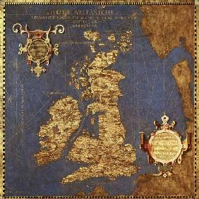 Map of the Sixteenth Century British Isles