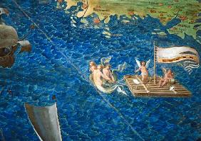 Raft of Cherubs, detail from the 'Galleria delle Carte Geografiche'