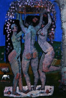 The Three Graces (acrylic on paper)