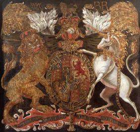 Royal Coat of Arms of William (1650-1702) and Mary (1662-94)
