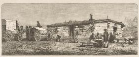 Old Post Station on the Prairie, near Denver, c.1870, from 'American Pictures', published by The Rel