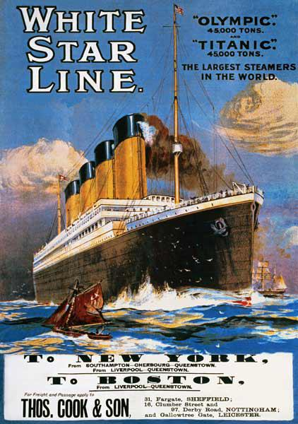 Poster advertising the White Star Line