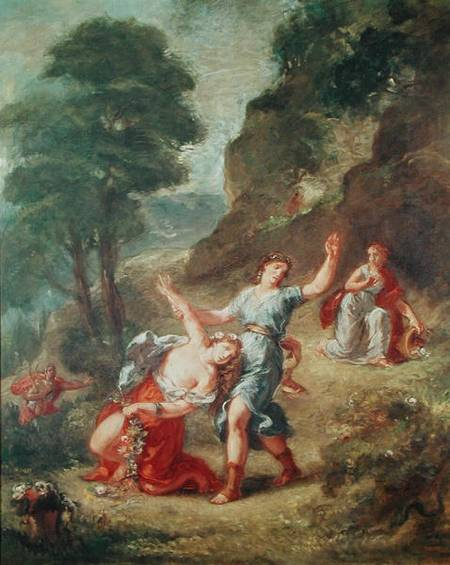 - Orpheus and Eurydice  Spring from a series of the Four SeasonsOrpheus And Eurydice