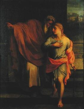 Jacob Sending his Son, Joseph, to Look for his Brothers at Sichem or Tobias Receiving Instructions f