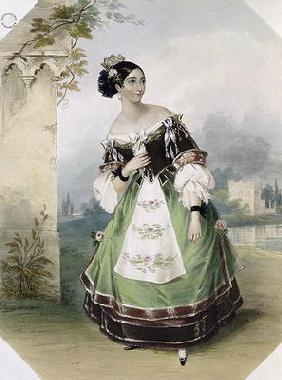 Emma Albertazzi as Zerlina in 'Don Giovanni', printed by Charles Joseph Hullmandel (1789-1850) 1837