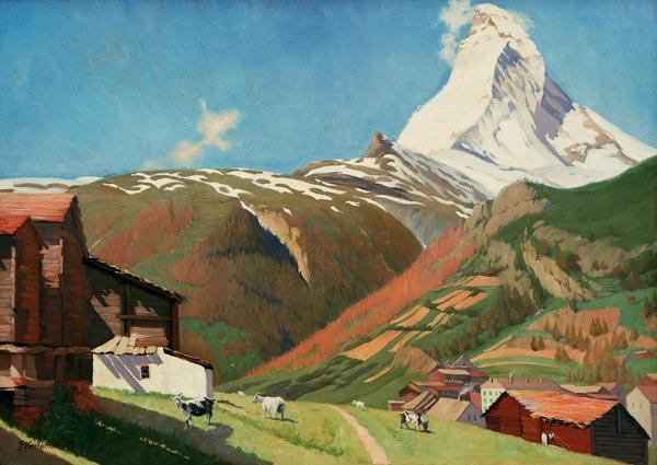 F.Vallotton, View of Zermatt