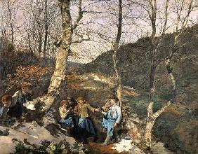 Early Spring in the Vienna Woods (The Violet Pickers)