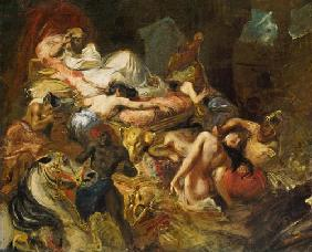 Study for The Death of Sardanapalus