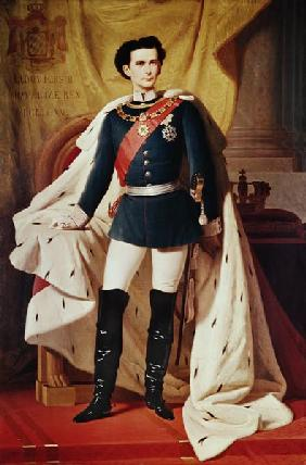 Portrait of Ludwig II (1845-86)of Bavaria in uniform