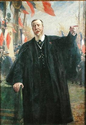 Paul Deroulede (1846-1914) Making a Speech at Bougival January 19