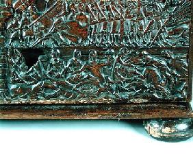 The Courtrai Chest depicting the Flemish line of battle during the Battle of the Golden Spurs fought