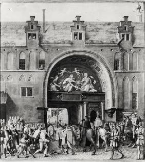 Entry of Hercule Francois of France, Duke of Alencon (1554-84) into Antwerp