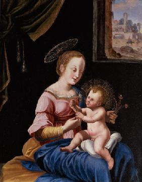 Virgin and Child with the Flight into Egypt