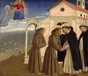 Meeting of Saint Francis and Saint Dominic (Scenes from the life of Saint Francis of Assisi)