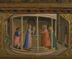 The Presentation in the Temple (The Annunciation retable with 5 Predella scenes)