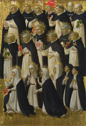 The Dominican Blessed (Panel from Fiesole San Domenico Altarpiece)